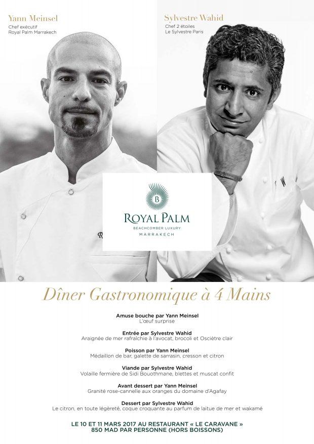 Restaurant Marrakech royal palm 4 mains