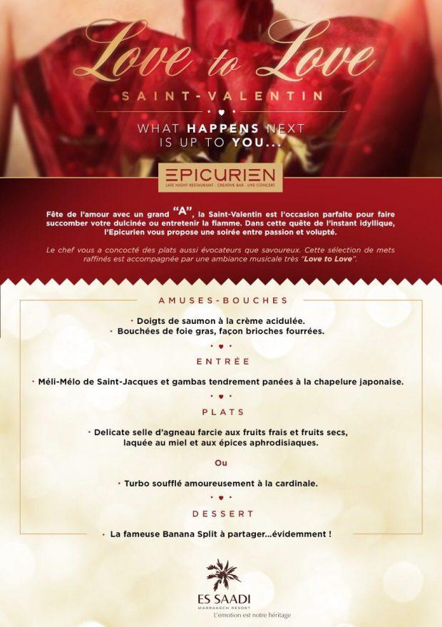 Menu St-Valentin 2017 Epicurien