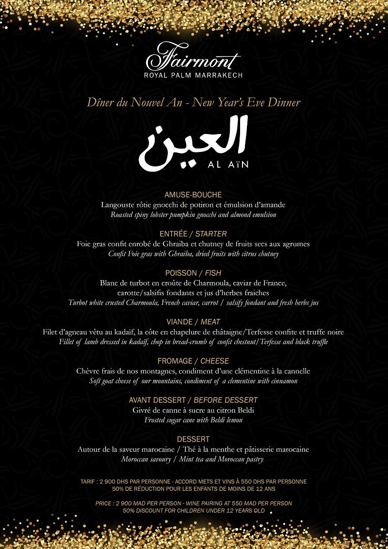 Menu du Réveillon - Al Aïn