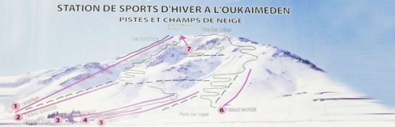 faire du ski au Marco piste oukaimeden