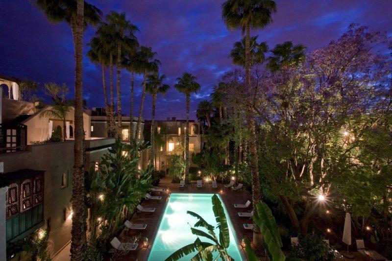 hotel de luxe marrakech les jardins de la medina