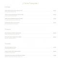 menu francais Palais Jad Mahal