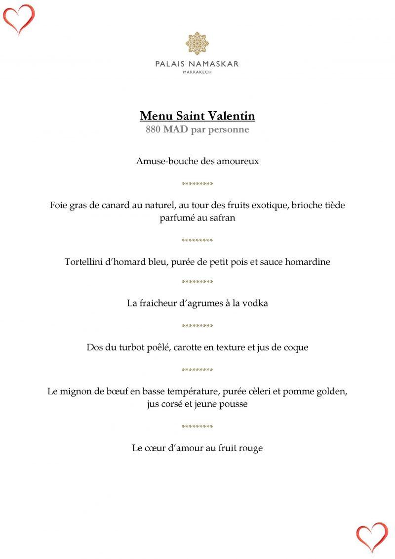 menu saint valentin 2018 palais namascar