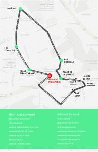 parcours journée sans voiture marrakech 2016