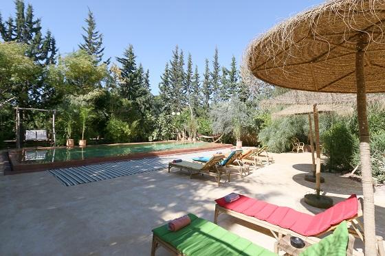 piscine marrakech jardin tougana