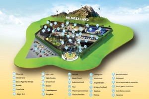 plan du parc palooza land marrakech