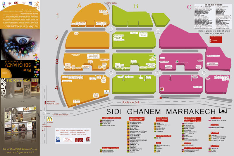 plan sidi ghanem marrakech