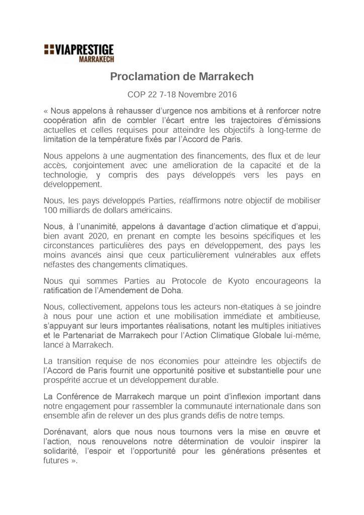 proclamation-de-marrakech-cop-22-novembre-2016