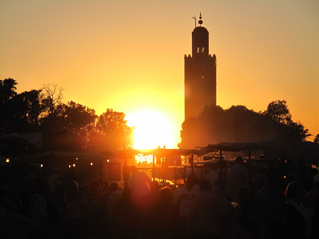 soleil à Marrakech