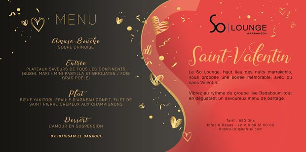 So Lounge marrakech saint valentin